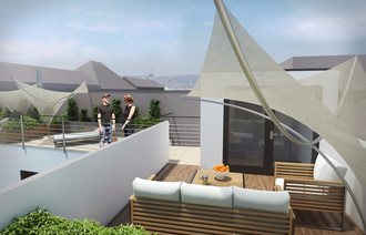 Eladó Tetőtéri társasházi lakás