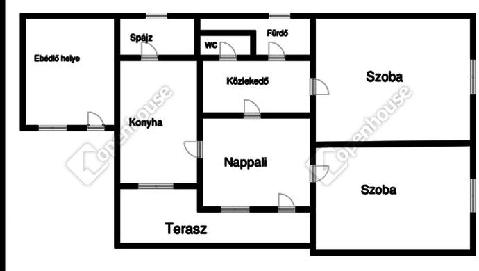 11. kép | Alaprajz | Eladó Családi ház, Heves (#125990)