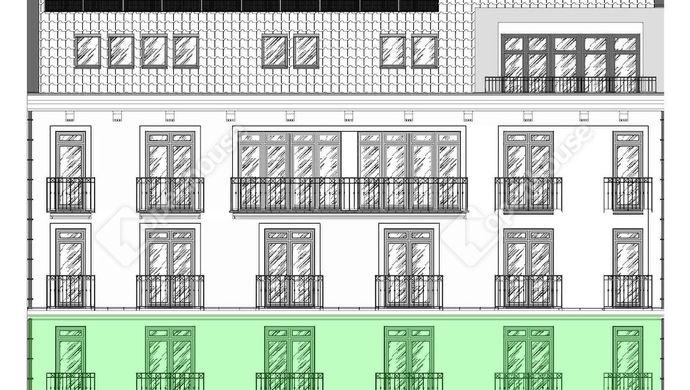 3. kép | homlokzatrajz | Eladó Társasházi lakás, Szeged (#138151)