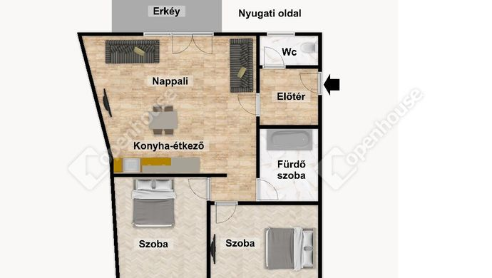 3. kép | Eladó Társasházi lakás, Eger (#152509)