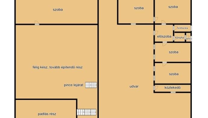 13. kép | Alaprajz | Eladó Családi ház, Tata (#106618)
