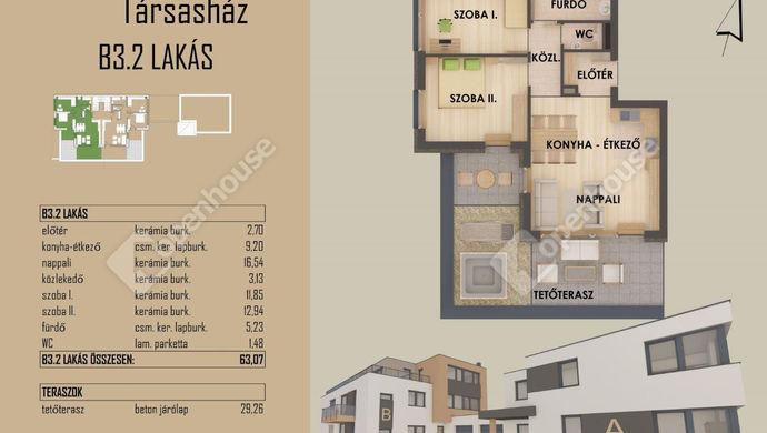 3. kép   Eladó új építésű tásrsasházi lakás, Székesfehérvár   Eladó Társasházi lakás, Székesfehérvár (#149405)
