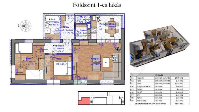2. kép | Eladó Társasházi lakás, Miskolc (#143566)