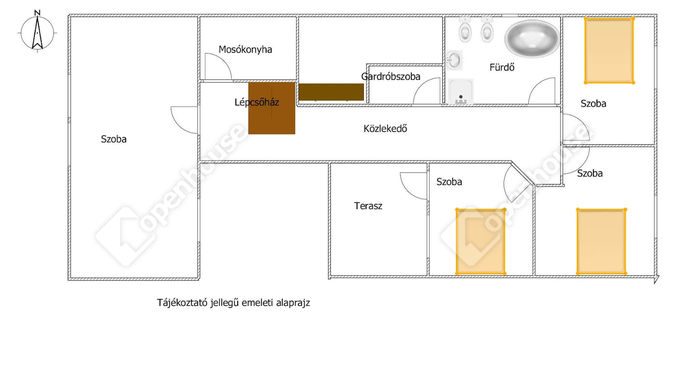 38. kép   Alaprajz emelet   Eladó Családi ház, Zalaegerszeg (#151321)
