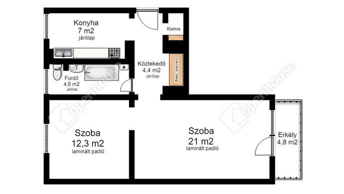 1. kép | Eladó Társasházi lakás, Miskolc (#135684)