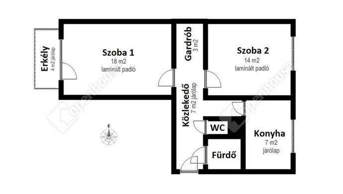 2. kép | Eladó Társasházi lakás, Miskolc (#148476)