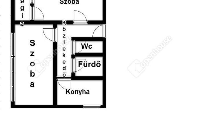 12. kép   alaprajz   Eladó Társasházi lakás, Szolnok (#134759)