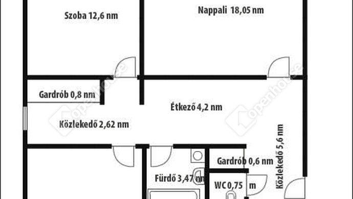 5. kép | Alaprajz | Eladó Társasházi lakás, Zalaegerszeg (#146838)