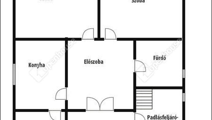 3. kép | Alaprajz-Lakószint | Eladó Családi ház, Zalaegerszeg (#140928)
