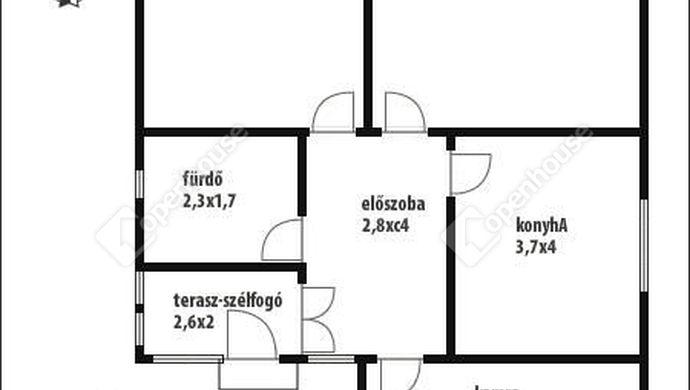 6. kép   Alaprajz   Eladó Családi ház, Salomvár (#145820)