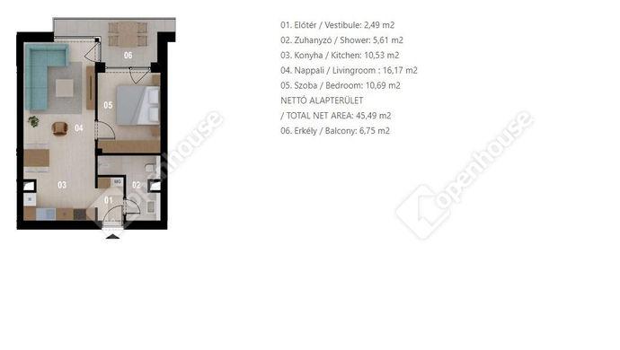 1. kép   Eladó Társasházi lakás, Siófok (#152556)