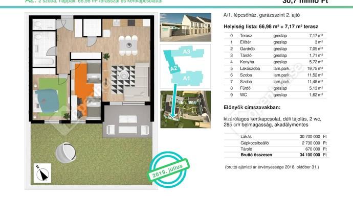 0. kép   Eladó Társasházi lakás, Tata (#132448)