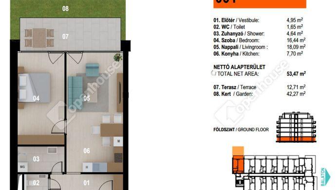 1. kép   Eladó Társasházi lakás, Siófok (#153137)