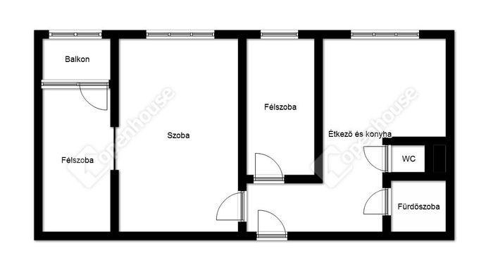 2. kép | Eladó Társasházi lakás, Miskolc (#140429)