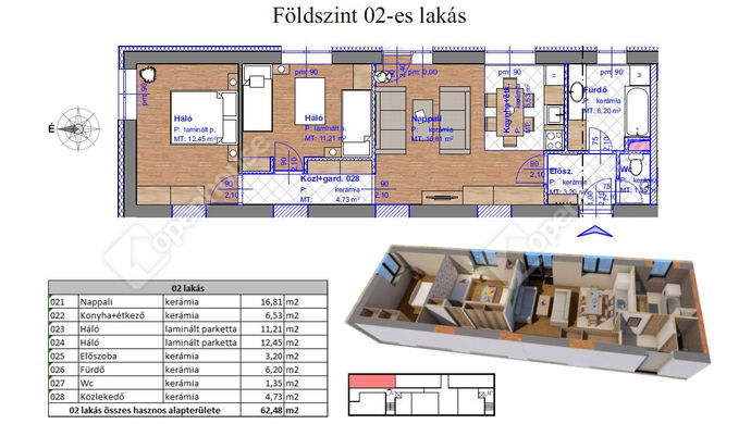 2. kép | Eladó Társasházi lakás, Miskolc (#143567)